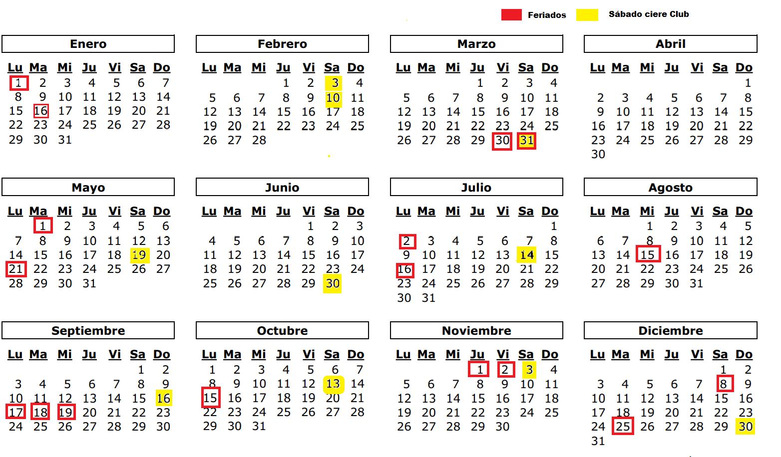 calendario anual thevillas co